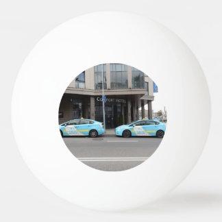 ビリニュスリスアニアのタクシー 卓球ボール
