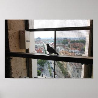 ビリニュス、リスアニアのGediminasタワーからの眺め ポスター