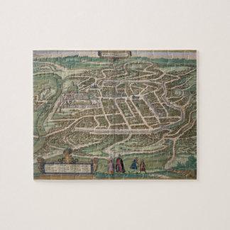 ビリニュス、「Civitates Orbis Tからのリスアニアの地図、 ジグソーパズル