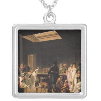 ビリヤードのゲーム、1807年 シルバープレートネックレス