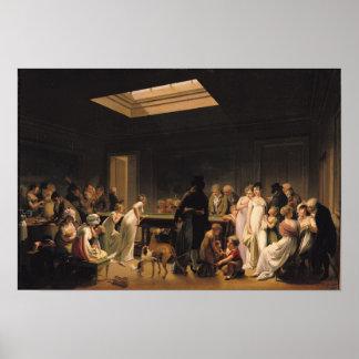 ビリヤードのゲーム、1807年 ポスター