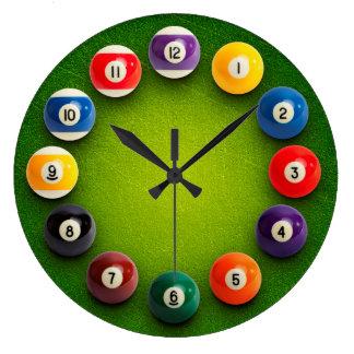 ビリヤードのスヌーカーのノベルティの時計 ラージ壁時計
