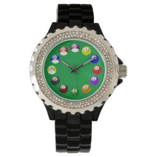 ビリヤードの大理石の球の腕時計 腕時計