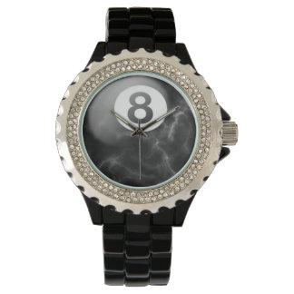ビリヤードの大理石8の球の腕時計 腕時計