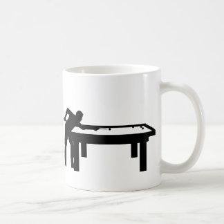 ビリヤードをする人 コーヒーマグカップ