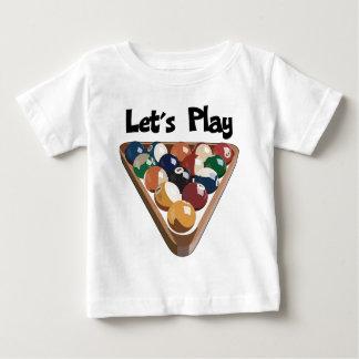 ビリヤードを遊ぼう ベビーTシャツ