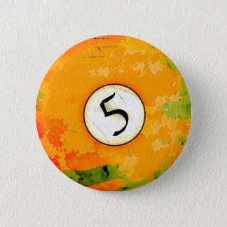 ビリヤードボール第5 5.7CM 丸型バッジ