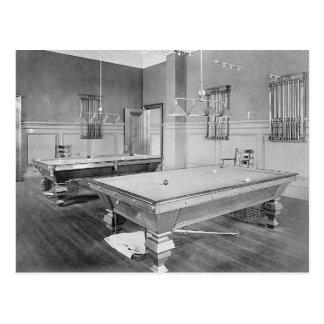 ビリヤード室1901年 ポストカード