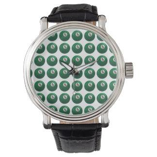 ビリヤード6の球パターン 腕時計