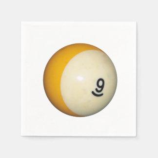 ビリヤード9の球 スタンダードカクテルナプキン