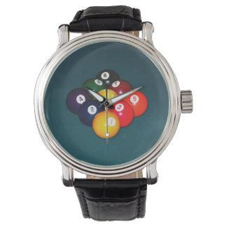 ビリヤード9の球 腕時計