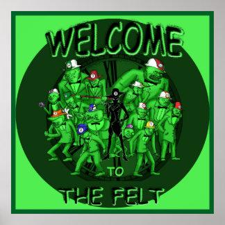 ビリヤード-フェルトへの歓迎 ポスター