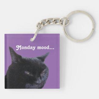ビリーベルニー著Keychain猫の月曜日の気分 キーホルダー