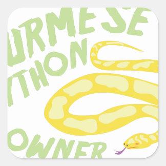 ビルマの大蛇の所有者 スクエアシール