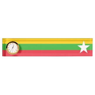 ビルマの旗 デスクネームプレート