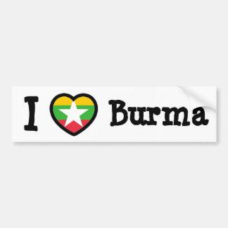 ビルマの旗 バンパーステッカー