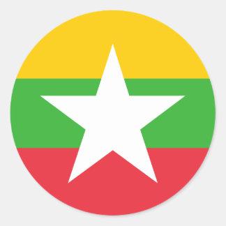 ビルマの旗 ラウンドシール