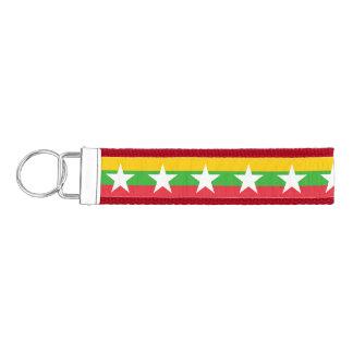 ビルマの旗 リストバンドキーホルダー