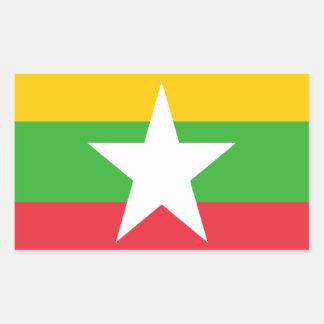 ビルマの旗 長方形シール