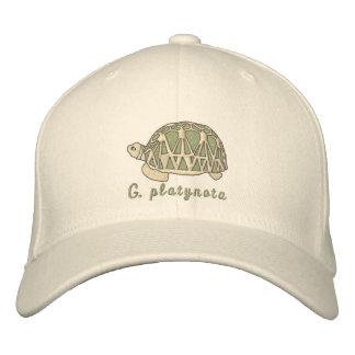 ビルマの星のカメの帽子(刺繍される) 刺繍入りキャップ