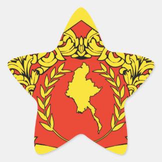 ビルマの紋章付き外衣 星シール