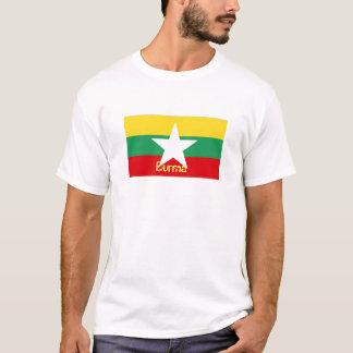 ビルマミャンマーの旗の記念品のTシャツ Tシャツ