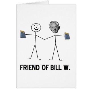 ビルW.の友人-回復を祝って下さい カード