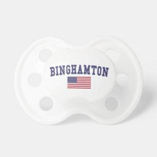 ビンガムトン米国の旗 おしゃぶり