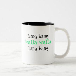 ビング強打のwallaのwallaビング強打のコーヒー・マグ ツートーンマグカップ