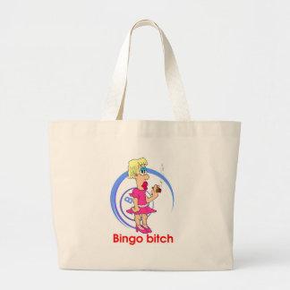 ビンゴの常習者のビーチのバッグ ラージトートバッグ