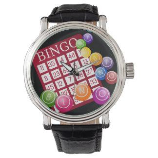 ビンゴの球が付いているビンゴカード 腕時計