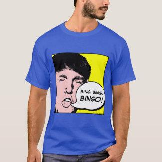 ビンゴを叫んでいるドナルド・トランプ! -おもしろいなポップアート Tシャツ