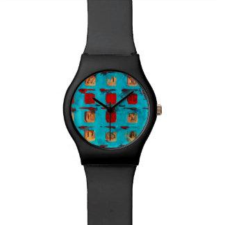 ビンゴカード抽象芸術の印象主義 腕時計