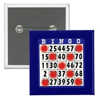 ビンゴカード-ボタン 5.1CM 正方形バッジ