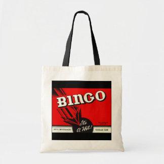 ビンゴプレーヤーのゲームのトートバックのヴィンテージの広告 トートバッグ