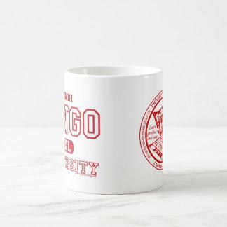 ビンゴ大学卒業生および赤いシールのマグ コーヒーマグカップ