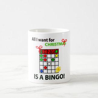 ビンゴIはクリスマスのためのビンゴがほしいと思います コーヒーマグカップ