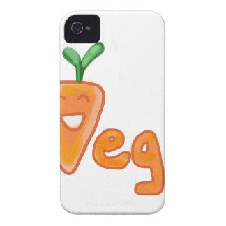 ビーガンのかわいいにんじんの喜劇的なデザイン Case-Mate iPhone 4 ケース