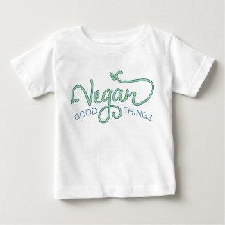 ビーガンのよい事-ベビーのティー ベビーTシャツ