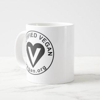 ビーガンのコーヒー茶マグの大きいVeganism Cerified ジャンボコーヒーマグカップ