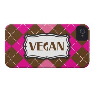 ビーガンのプライドのピンクのブラウンのアーガイル Case-Mate iPhone 4 ケース