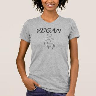 ビーガンのワイシャツw/Animalの権利は及び牛、雌鶏、ブタ引用します Tシャツ