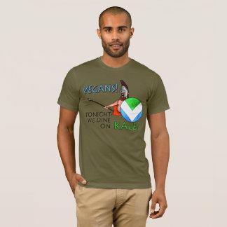 """ビーガンの旗300の盾""""今夜私達によってが緑葉カンランで食事する! """" Tシャツ"""