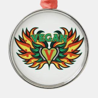 ビーガンの翼 メタルオーナメント