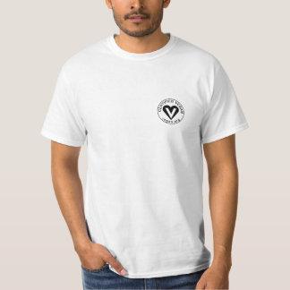 ビーガンの背部が付いている証明されたビーガンの綿ワイシャツ Tシャツ