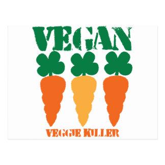 ビーガンの野菜のキラー ポストカード