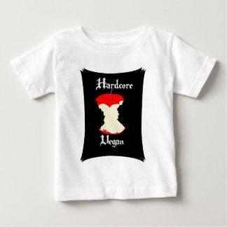ビーガンのAppleの本格的なデザイン ベビーTシャツ