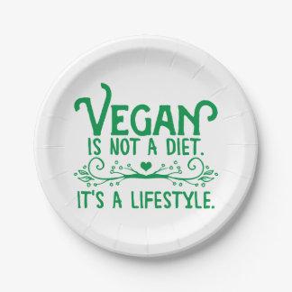 ビーガンはダイエットではないです ペーパープレート スモール