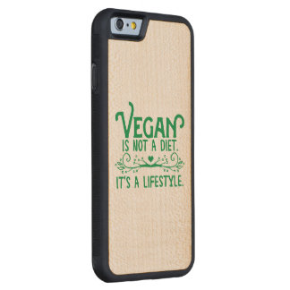 ビーガンはダイエットではないです CarvedメープルiPhone 6バンパーケース