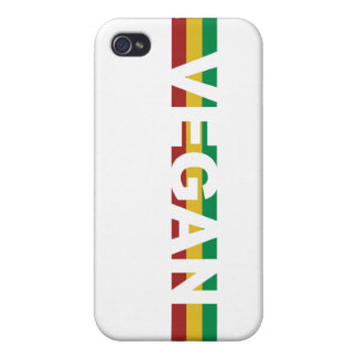 ビーガンはラスタを縞で飾ります iPhone 4/4Sケース
